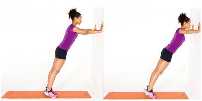 фото упражнение упор о стену