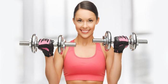 фото упражнение с гантелями