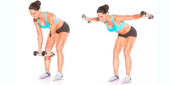 фото упражнение с наклоном