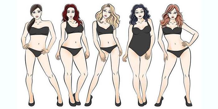 инфографика разные женские фигуры